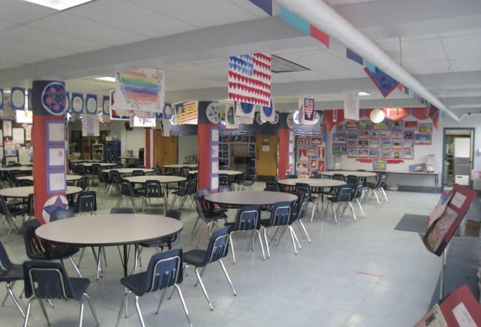 Memorial School cafeteria
