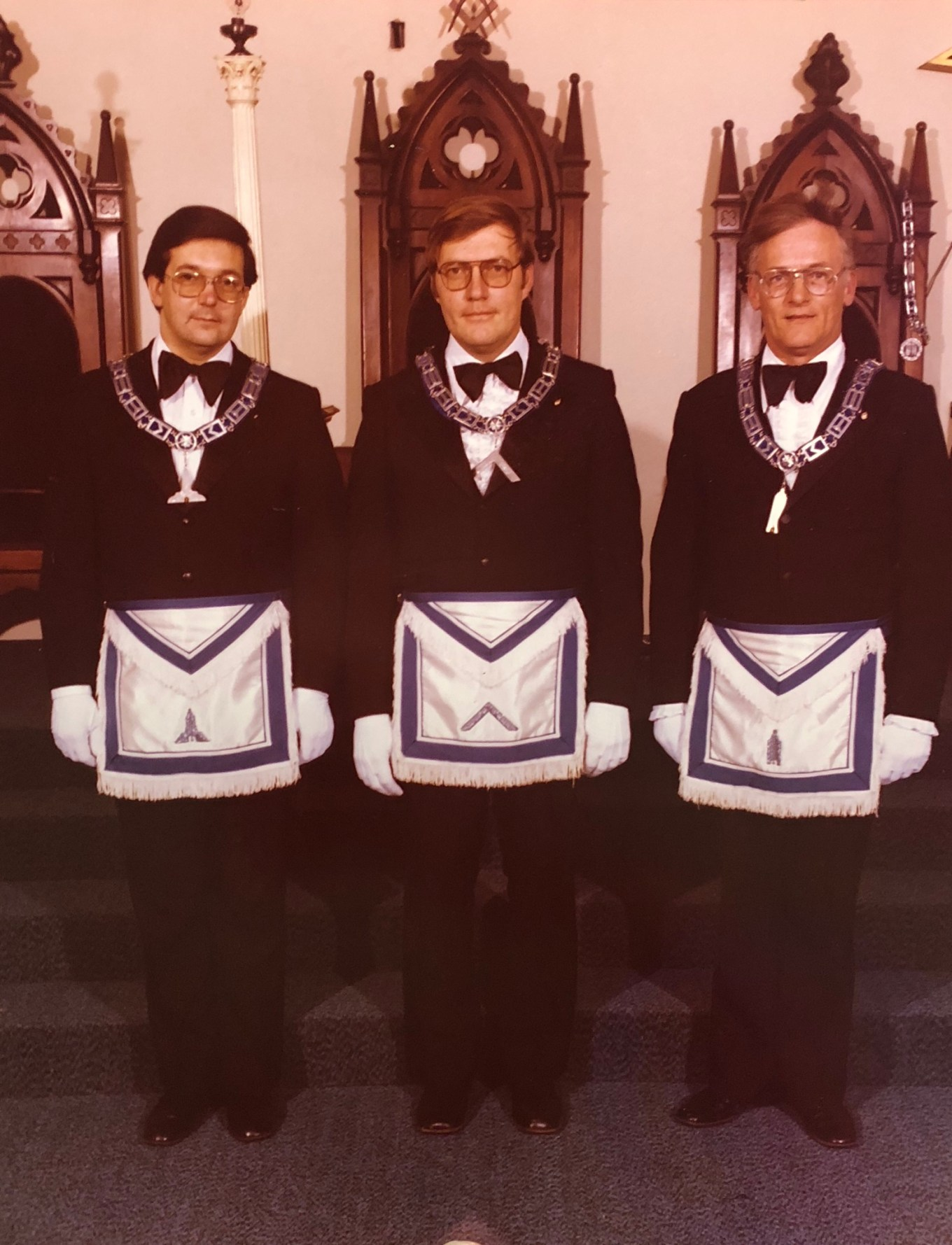 Simonds Lodge officers, Burlington MA