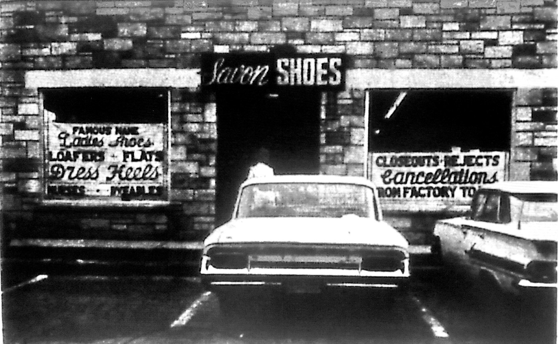 Savon Shoes, next to the IGA Foodliner (now the Shoppes at Simonds Park) Burlington MA