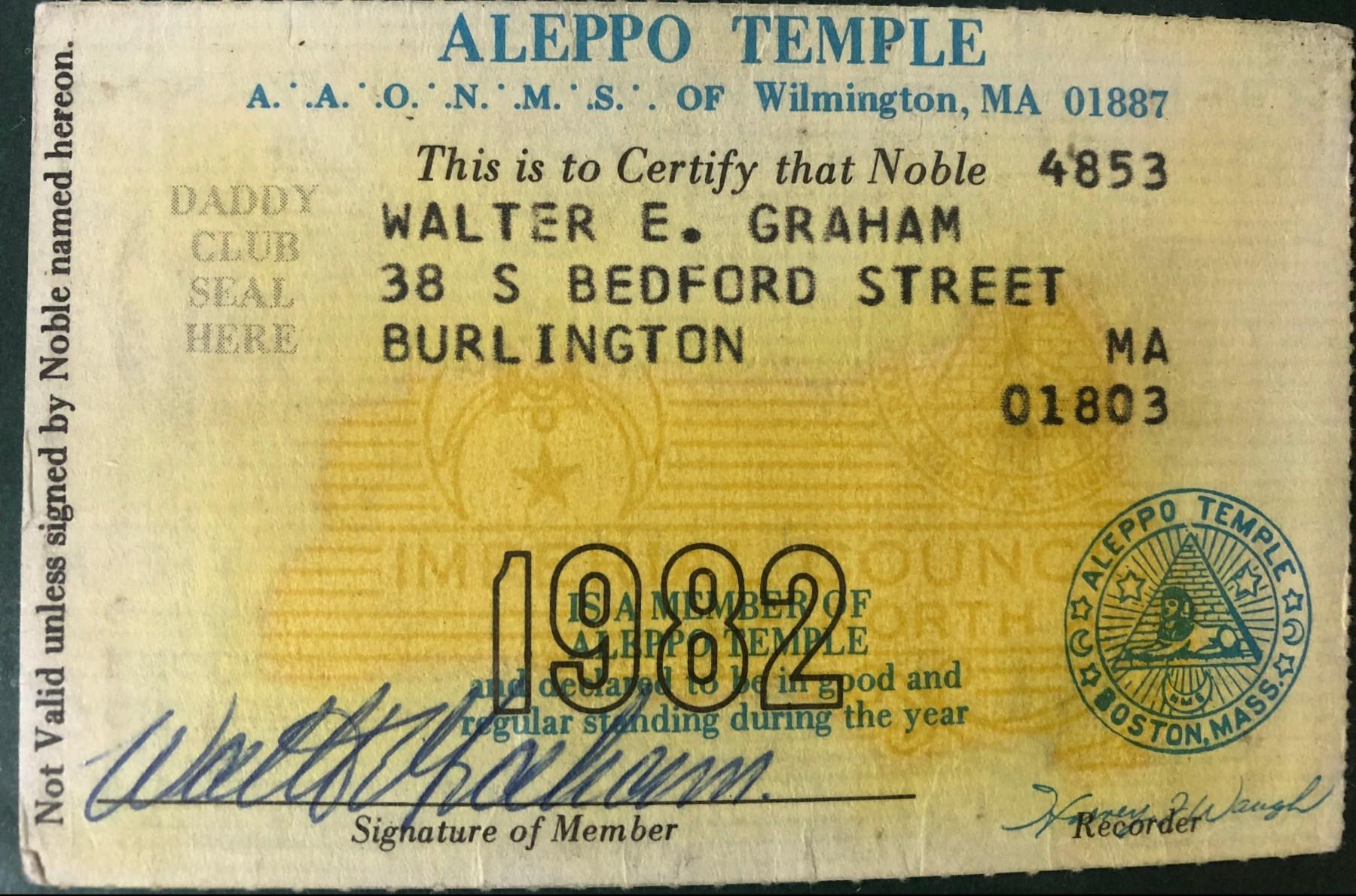 Allepo Temple card 1982