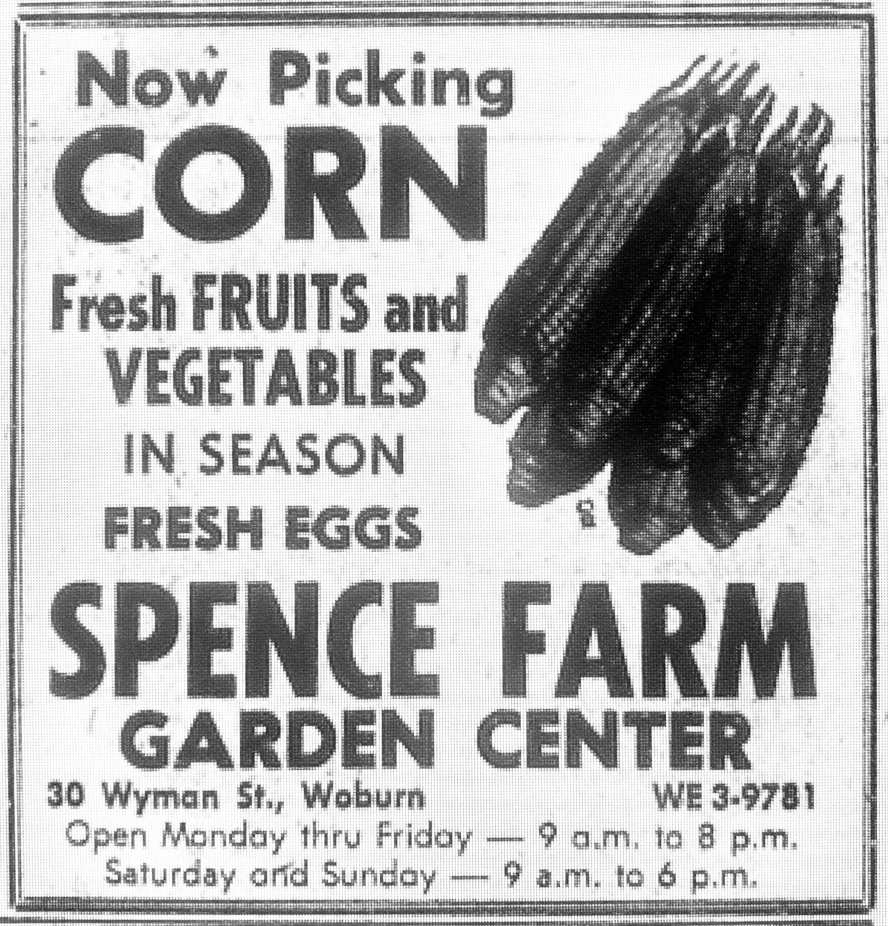 Spence Farm Woburn MA