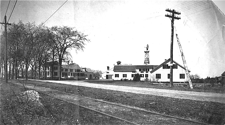 Reed Ham Works with trolley tracks, Burlington MA. Photo credit: Burlington Archives