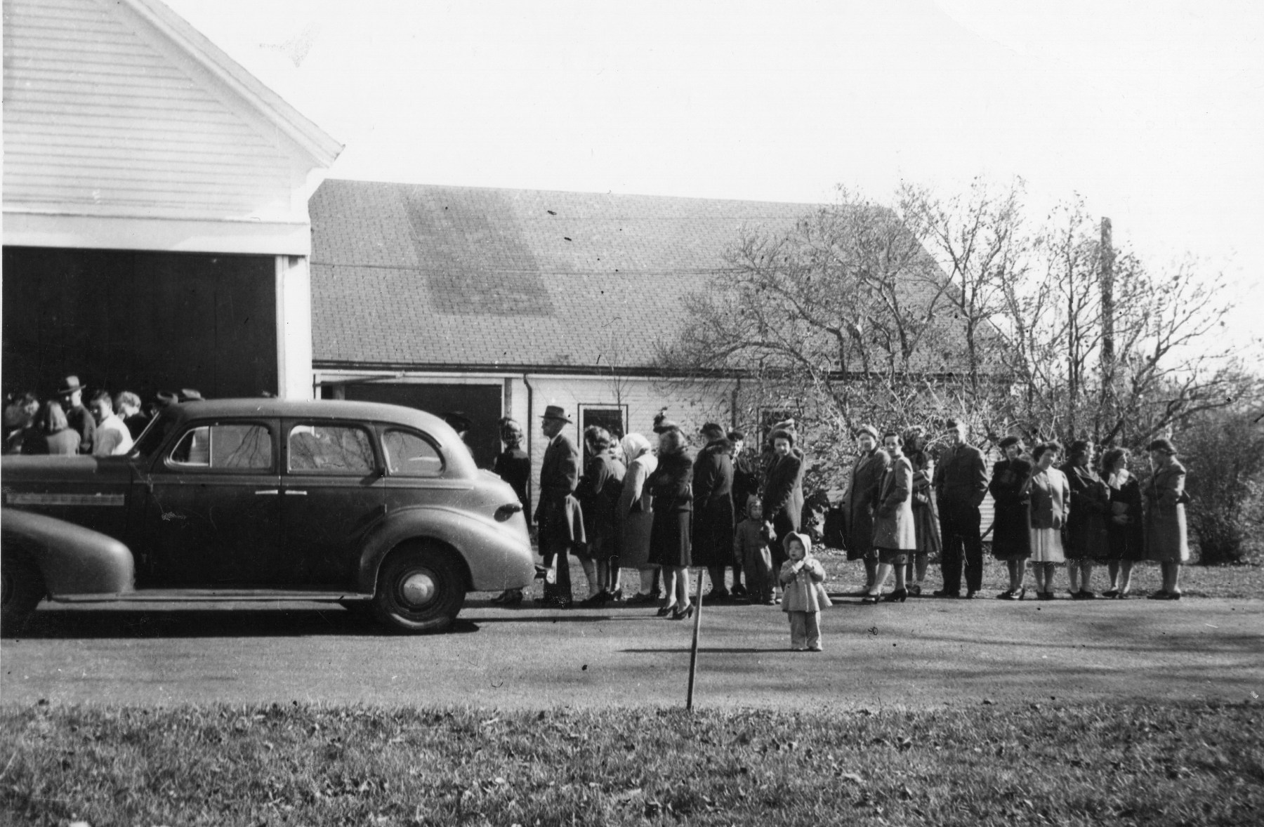 Bacon line at Reed Ham Works, October 1945, Burlington MA. Photo credit: Guy Reed III