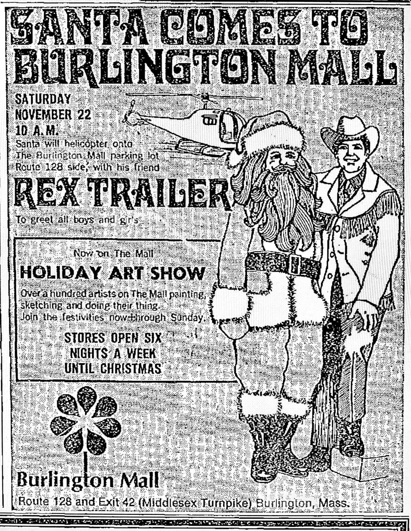 Santa Rex Trailer ad, Burlington MA
