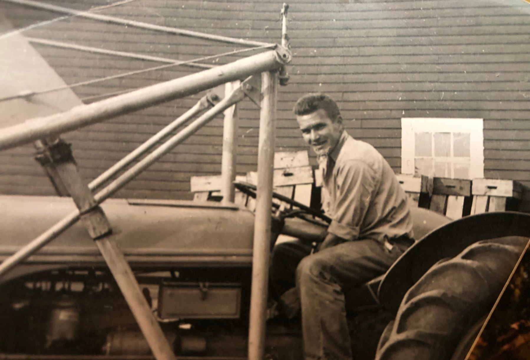 Herb Crawford on tractor Burlington MA