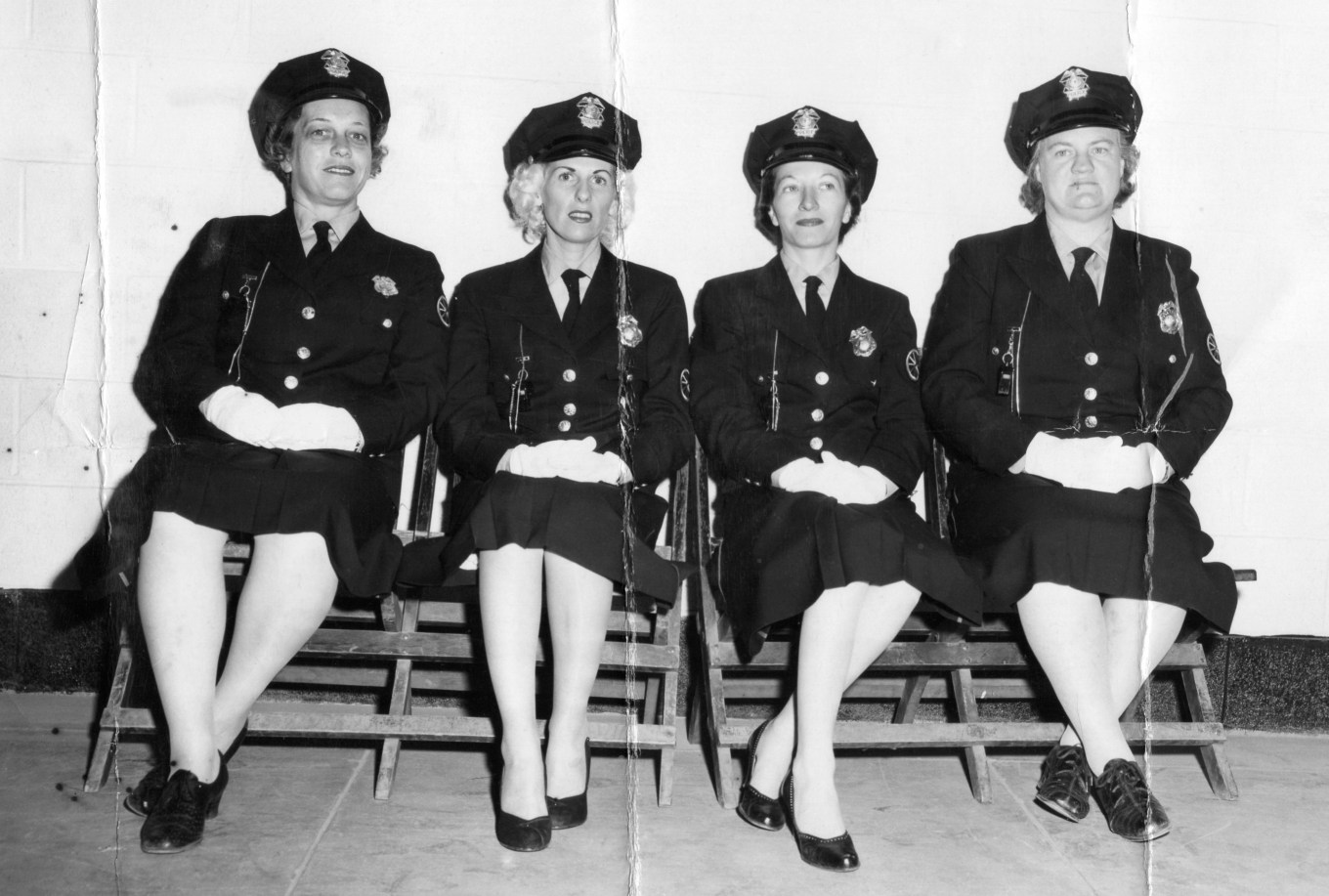 Police matrons sitting, Burlington MA