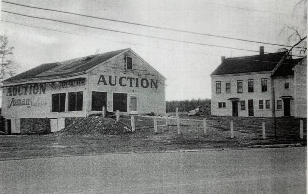 Joman Auction barn and Sulujian Farm, c. 1950, Burlington MA
