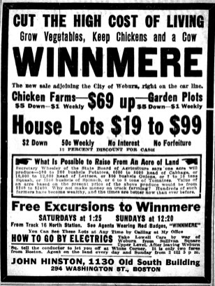 Winnmere real estate ad Burlington MA