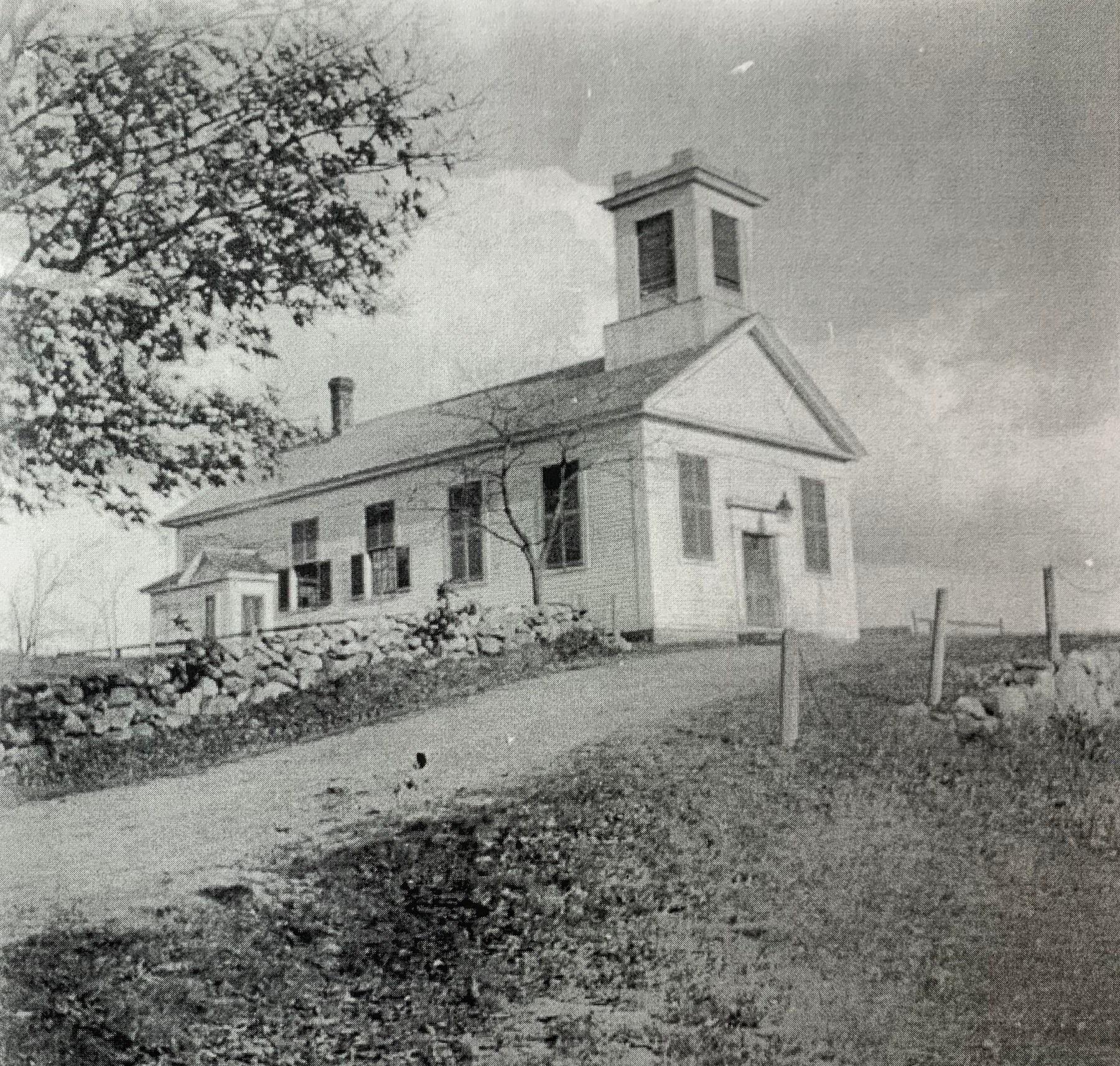 First Town Hall, where Simonds Park is today, Burlington MA
