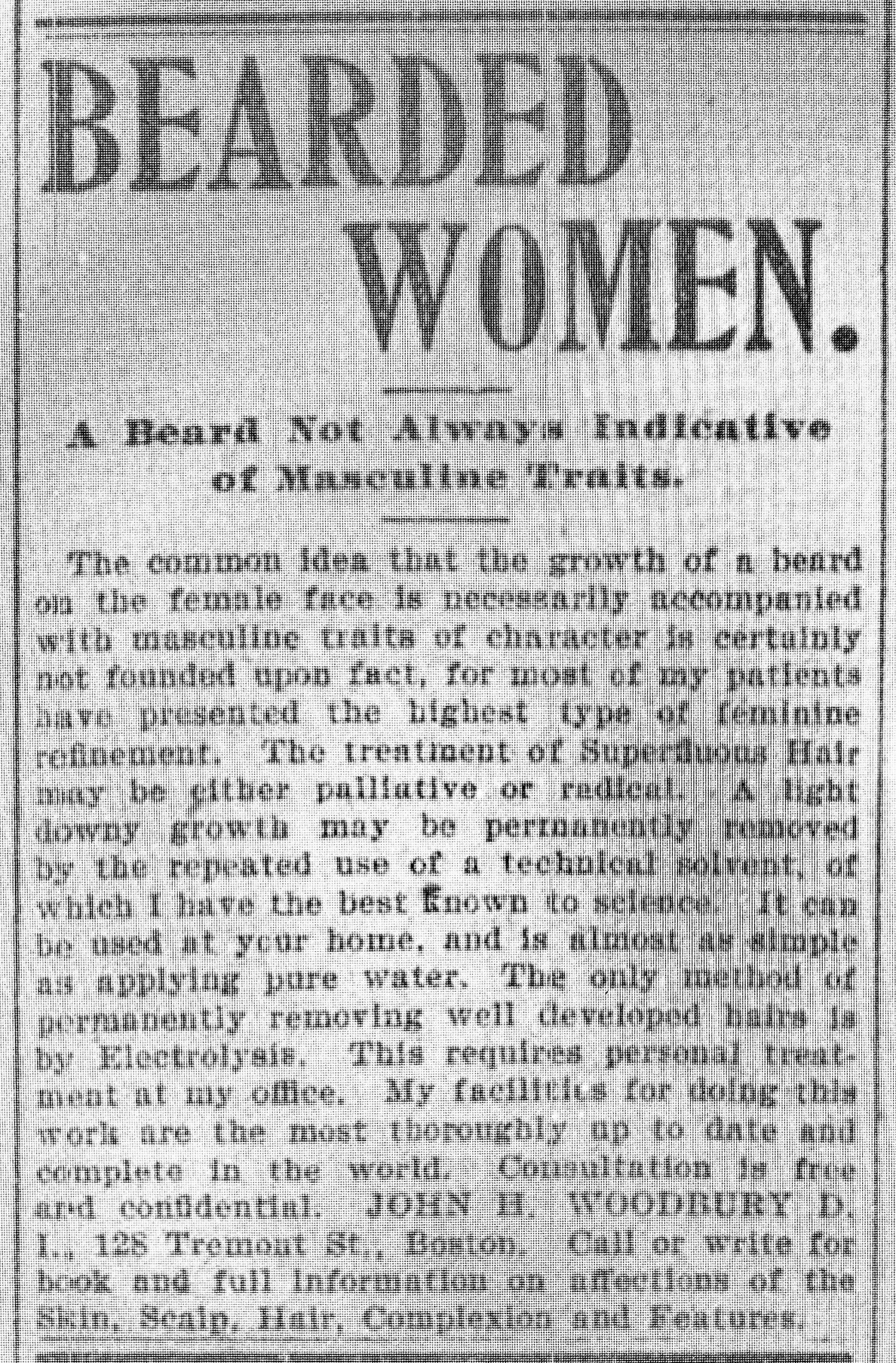 Electrolysis existed in 1901
