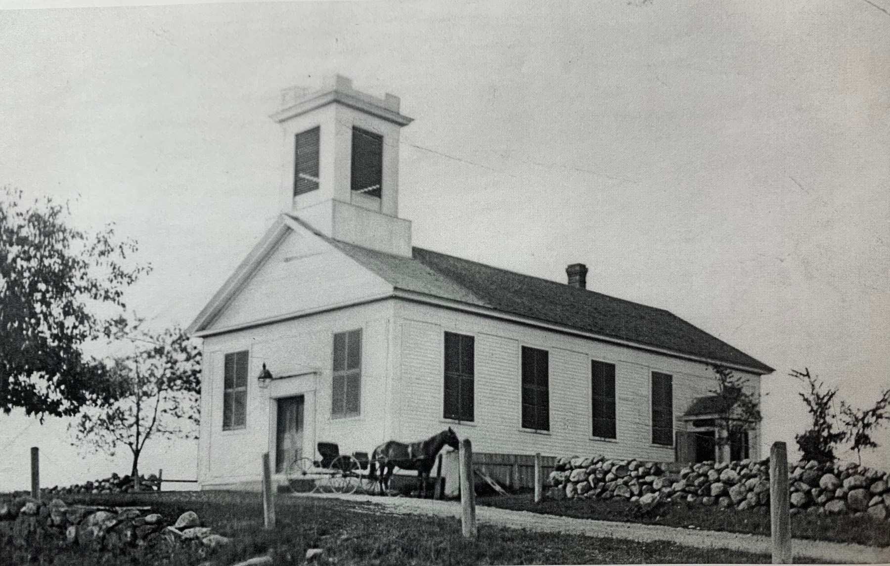 First town hall, where Simonds Park is now.