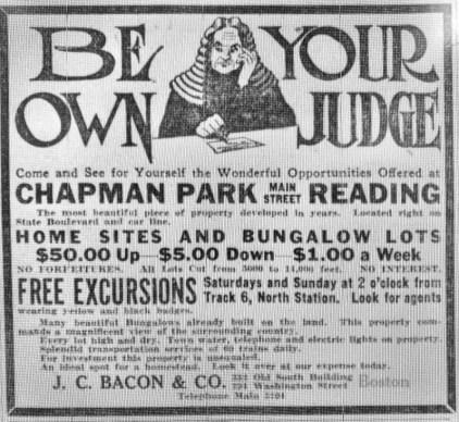 Chapman Park Reading MA 1916