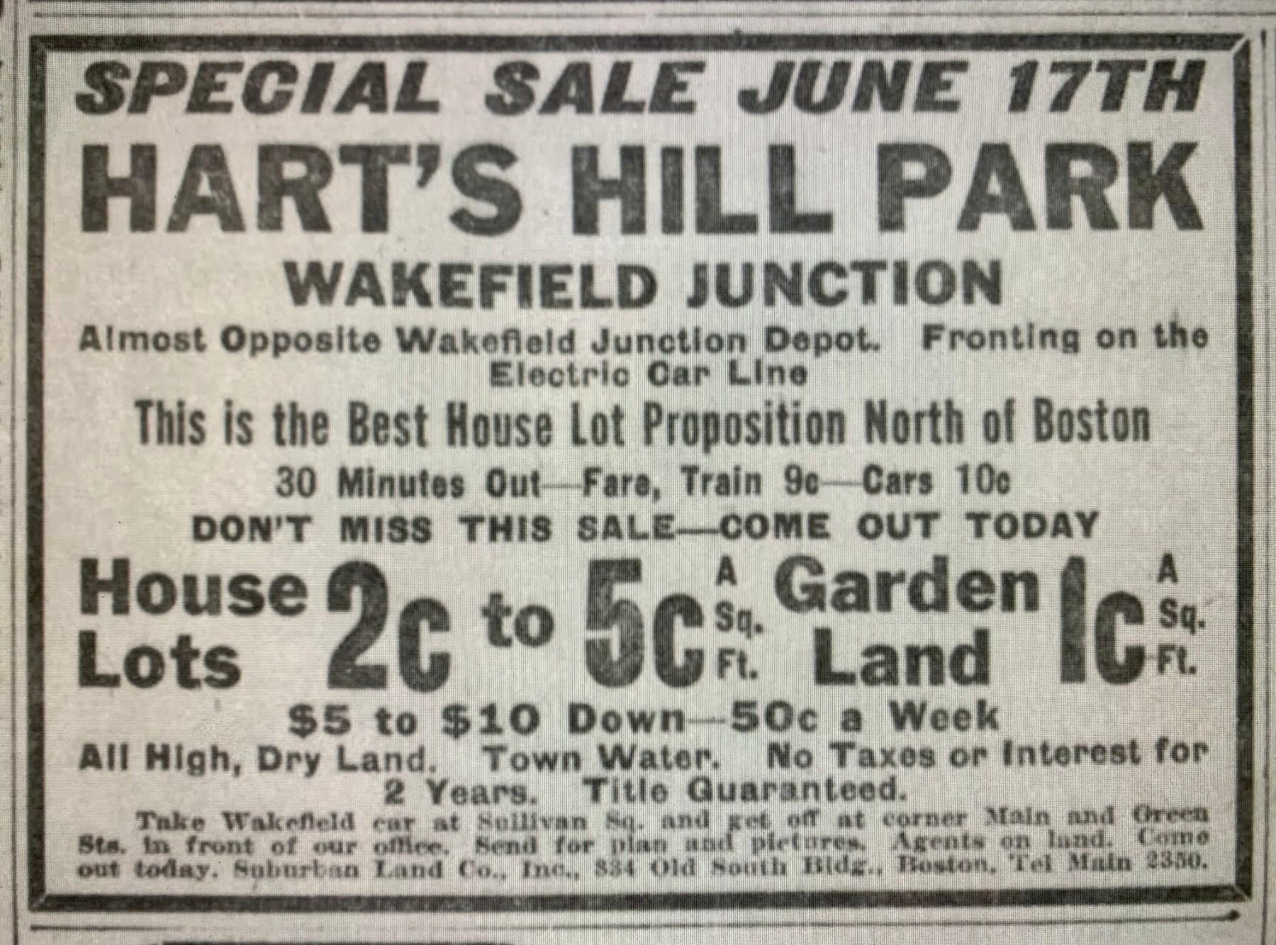 Hart's Hill Wakefield 1915