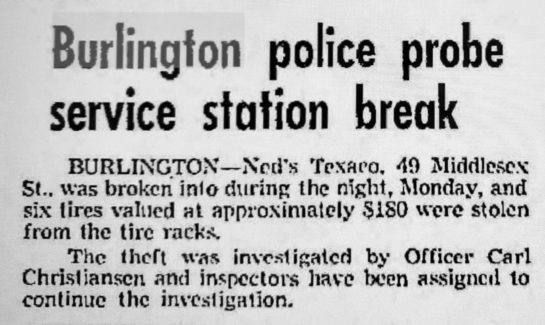 Texaco station break 2, Burlington MA
