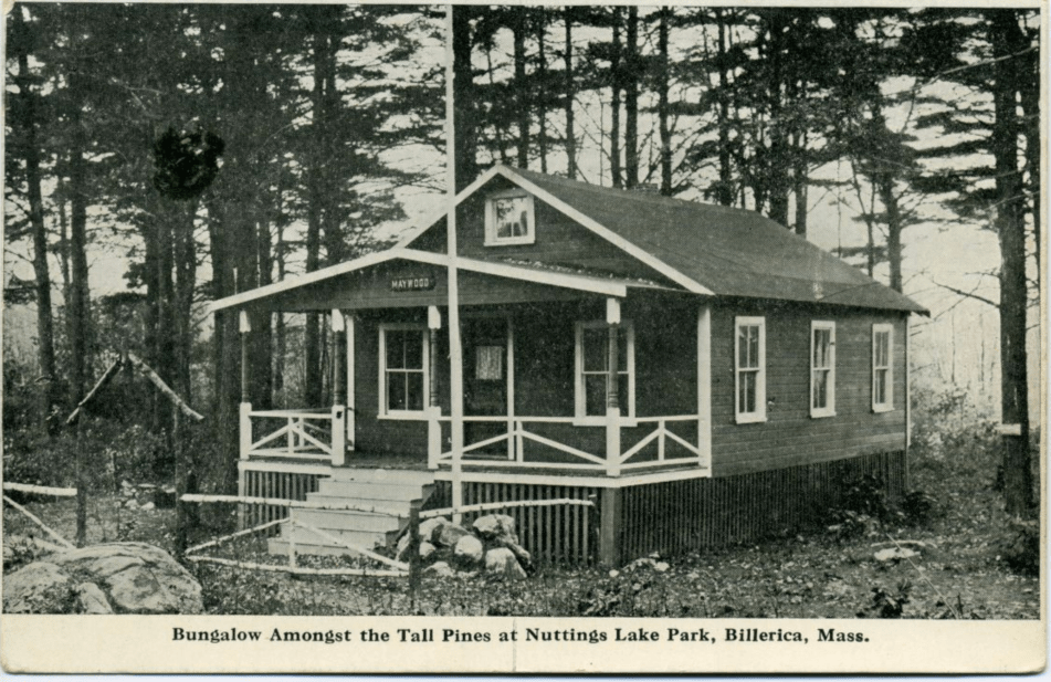 Nuttings Lake bungalow postcard 1