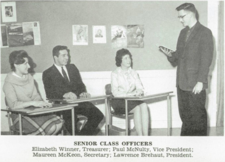 Lawrence Brehaut, class president