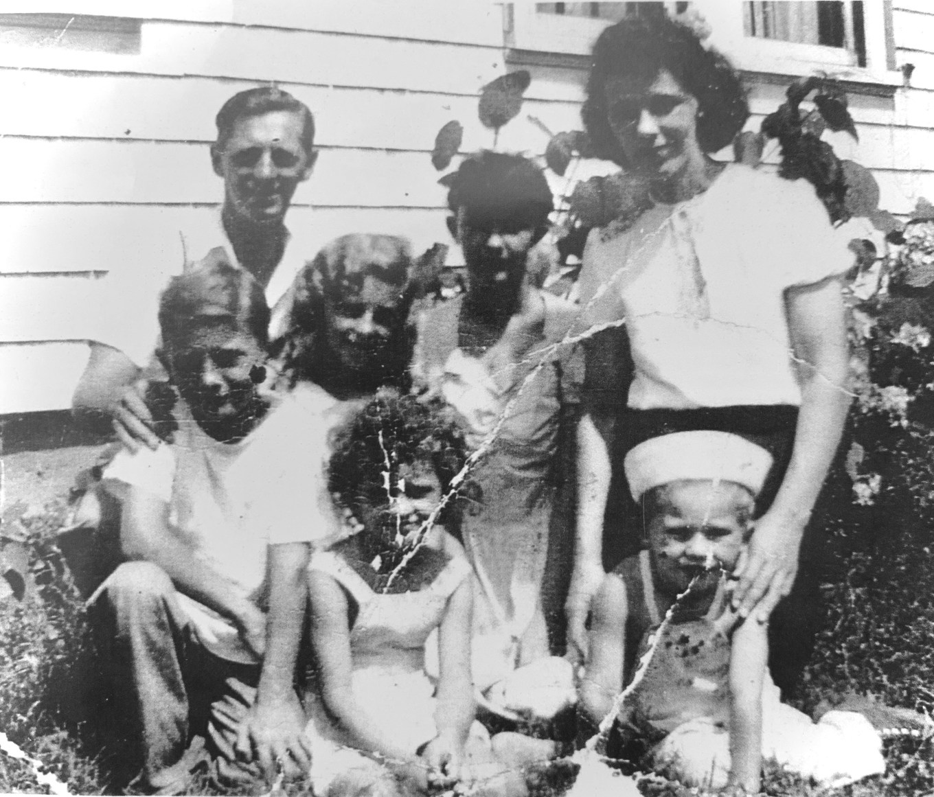 Johnson family at Grandma's house on Overlook Ave. c. 1948