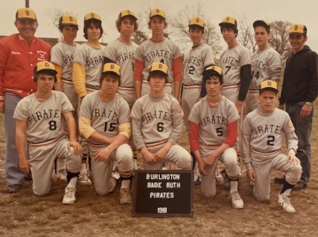 1981 Burlington Babe Ruth Pirates. Photo credit: Neil Hickey