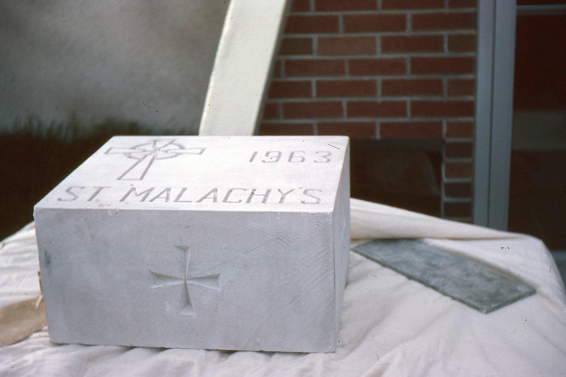 St. Malachy's cornerstone