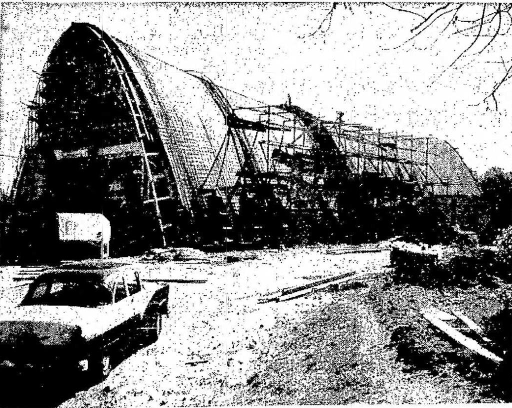 St. Malachy's under construction Oct. 1963, Burlington MA