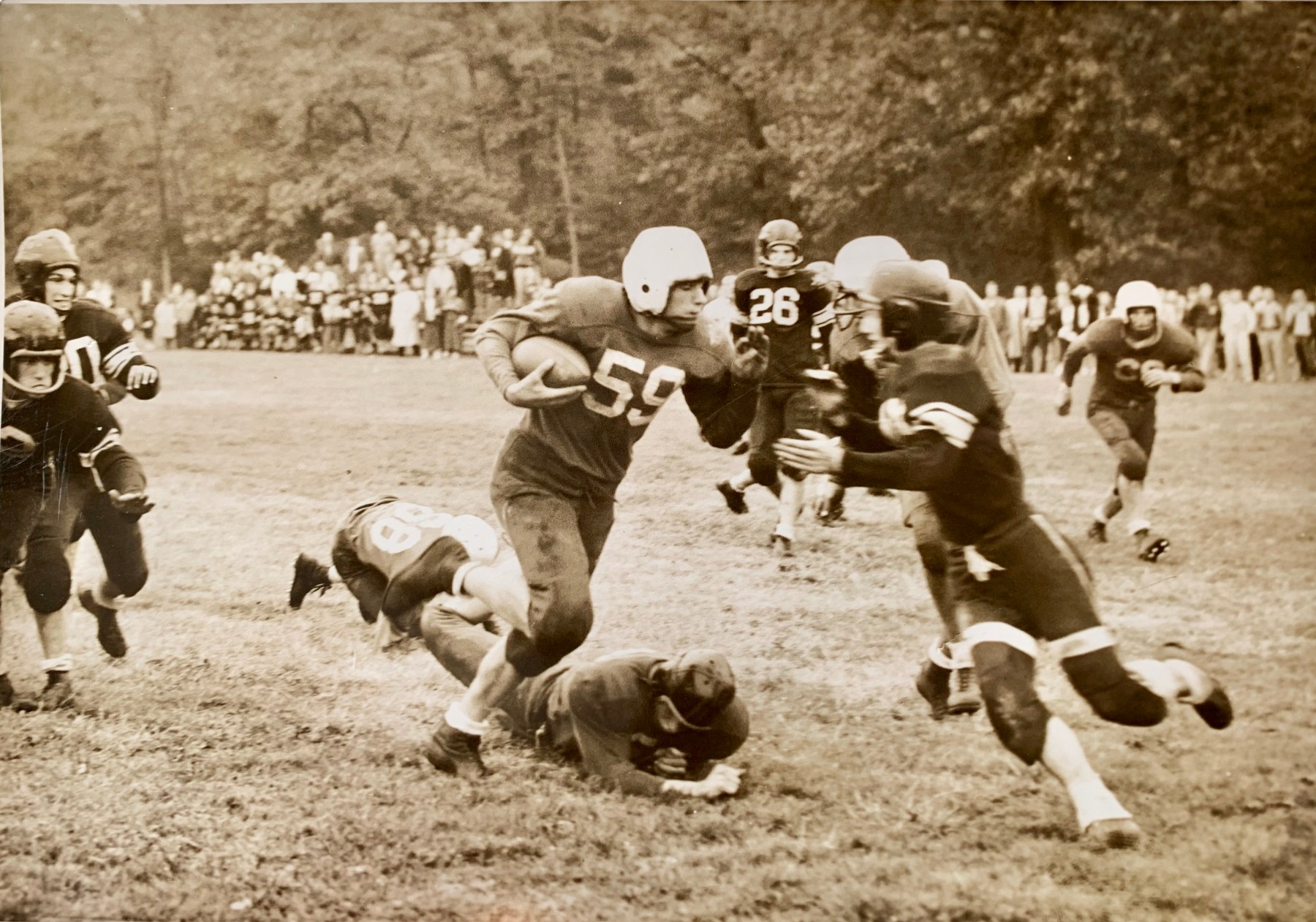1956 football seasson. Photo credit: Jerry Skelton