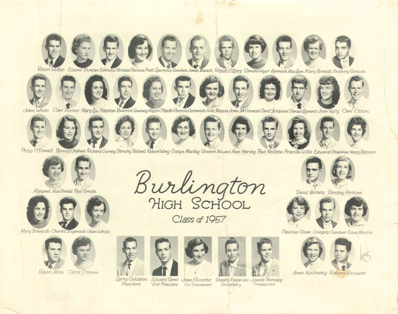 1957 high school class picture