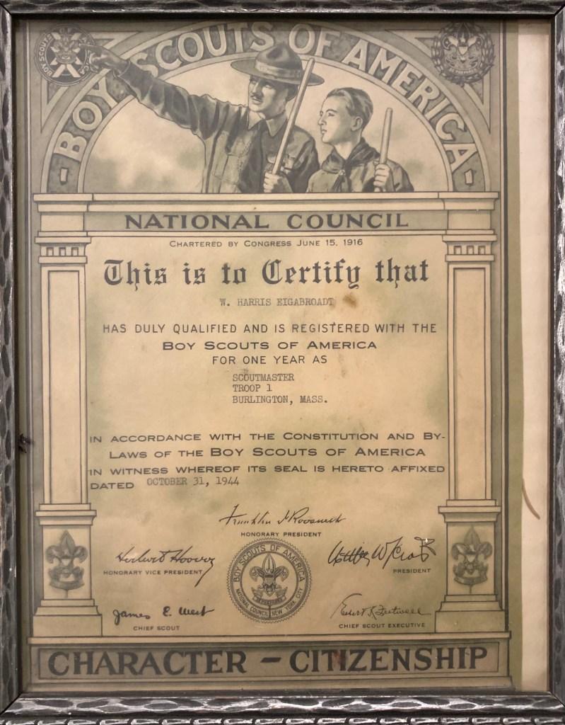 Boy Scouts begin in Burlington, MA 1916