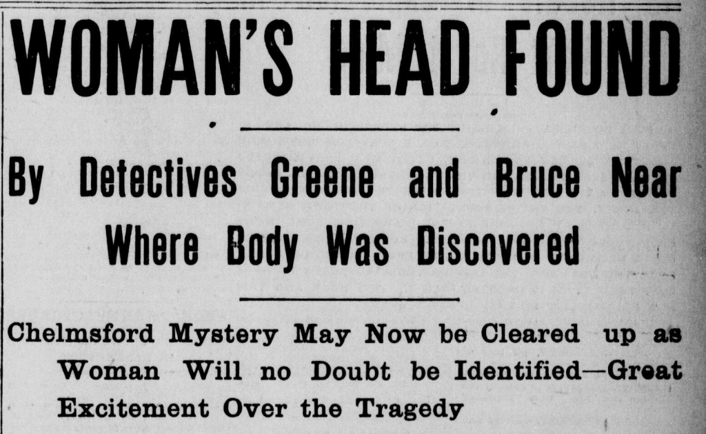 Victim's head found