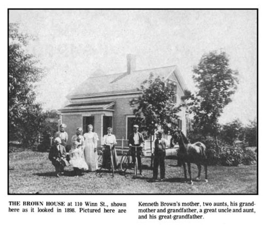 The Brown family on Winn Street Burlington MA