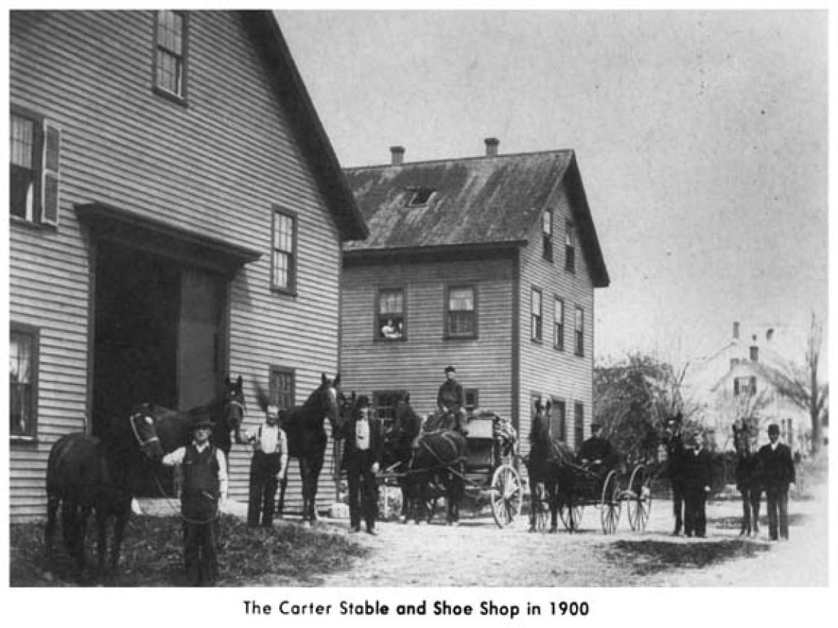Carter Stable and Shoe Shop, Burlington MA 1900