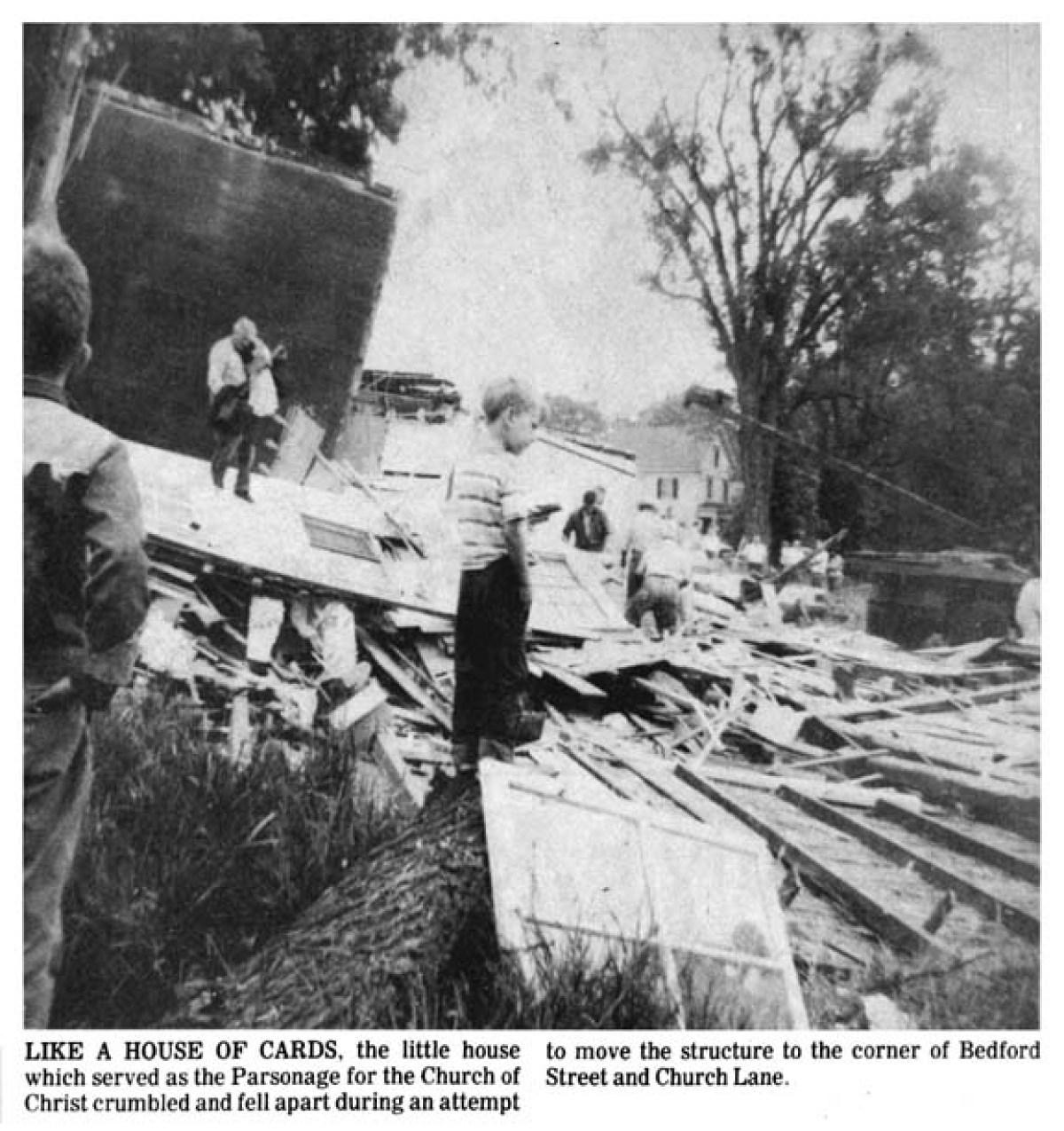 Rev. Sidney King's destroyed house