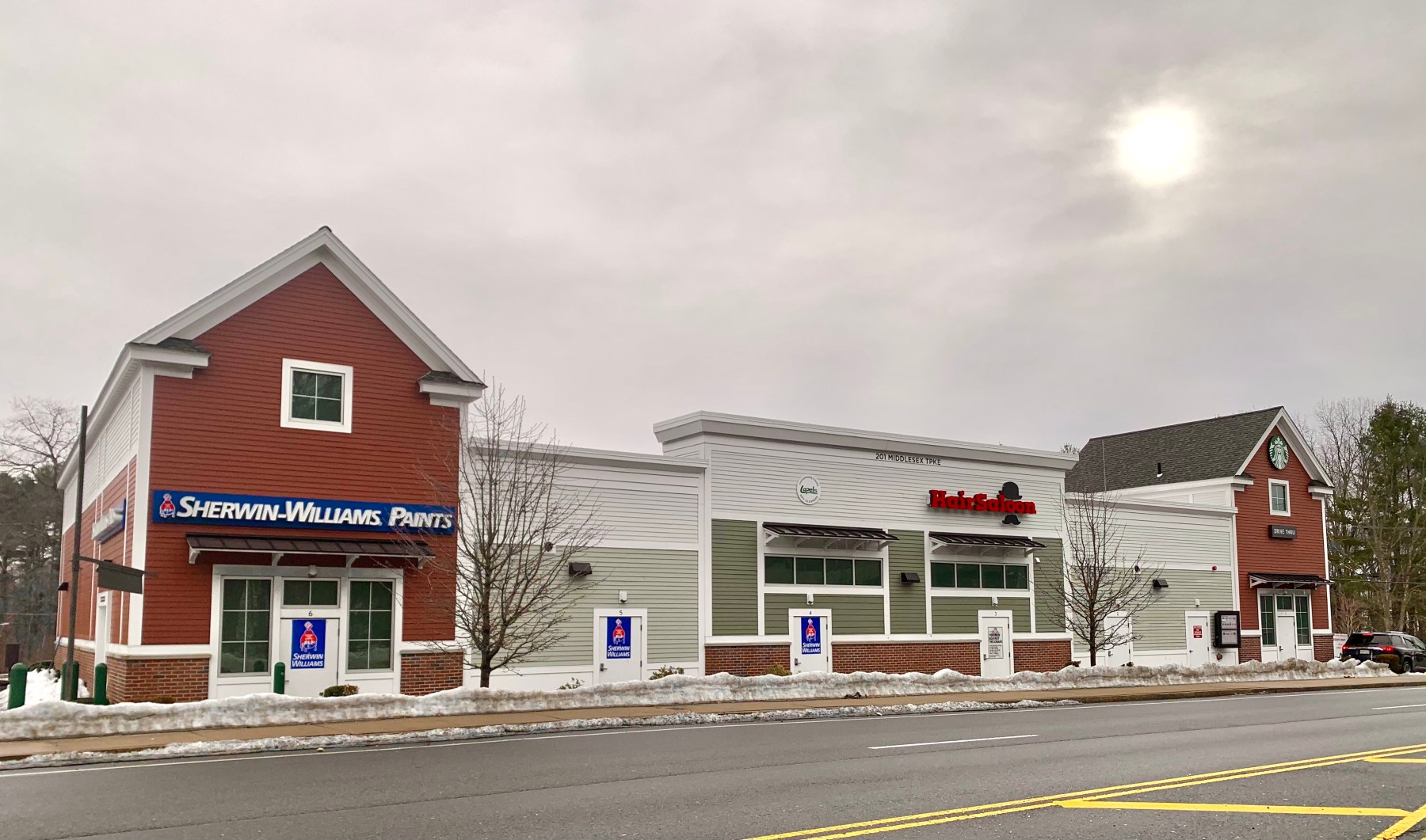 201 Middlesex Turnpike, Burlington MA including Sherwin-Williams and Starbucks