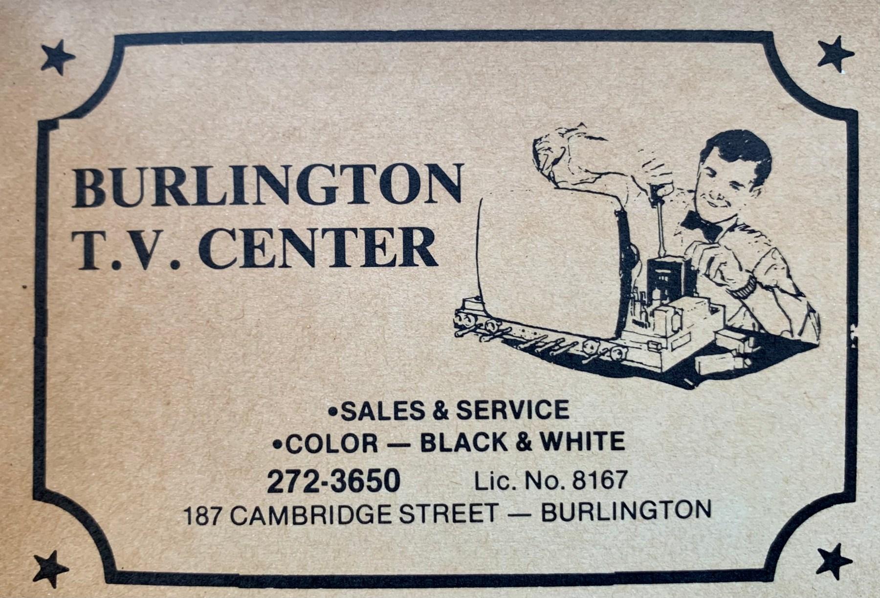 Burlington TV Center, 187 Cambridge Street, Burlington MA