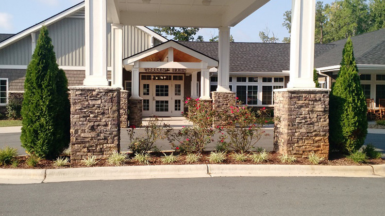 Alamance House front entrance welcomes residents