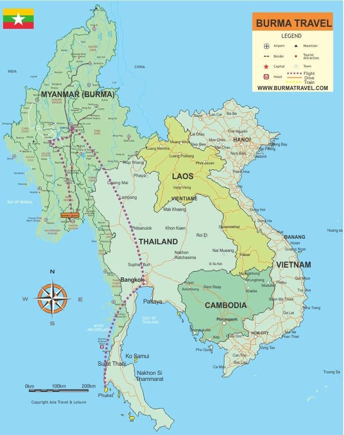 Map-Myanmar-Thailand-Vacation
