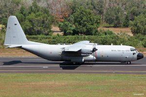 ထားဝယ်လေဆိပ်တွင် ညအိပ်ခဲ့ရသည့် ထိုင်းလေတပ်မှ C-130 လေယာဉ်