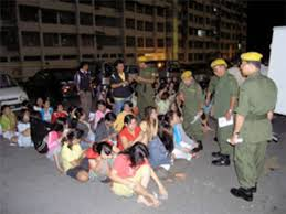 မလေးရှားမှအလုပ်သမားများဖမ်းဆီးခံရပုံ(internet)