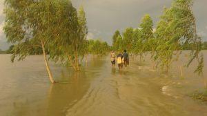 ဘီလူးကျွန်းရေကြီးစဉ်မြင်ကွင်း(Naiaung Oo Facebook)