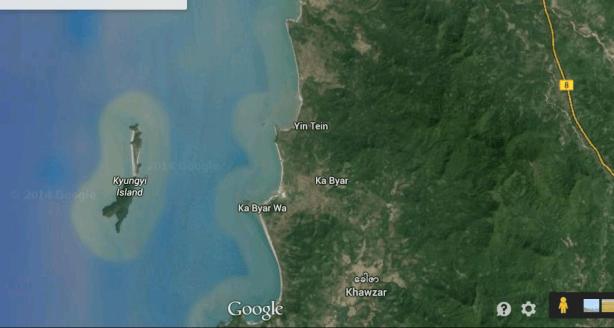 ခေါဇာမြို့ကို Google Earth မှမြင်ရပုံ(Copy)