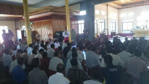 ဒေသခံများအား မွန်ပြည်သစ်ပါတီတွေ့ဆုံရှင်းလင်းစဉ်(Facebook)