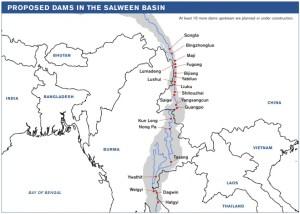 သံလွင်မြစ်ပေါ်ရေကာတာစီမံကိန်းများ(Internet)