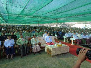Caption- ကျေးလက်ဒေသဖွံ့ဖြိုးရေးနှင့် လူမှုစီးပွားဘဝမြှင့်တင်ရေး အခမ်းအနား(IMNA)