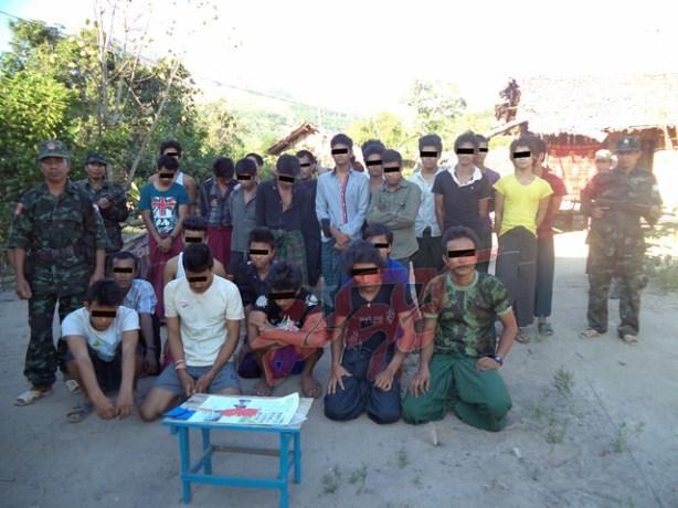 မွန်ပြည်သစ်ပါတီမှ ဖမ်းစီးရမိသည့် မူယစ်ဆေးသုံးစွဲသည့်လူငယ်များ(NMSP)