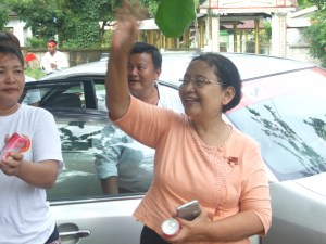 ဒေါ်မာမာခိုင် NLD သထုံမြို့နယ်ပြည်သူ့လွှတ်တော်ကိုယ်စားလှယ်လောင်း(IMNA)