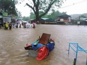ကင်းမွန်ချောင်းစခန်းတွင် ရေကြီးခဲ့မှုအခြေအနေ(Popular News Journal)
