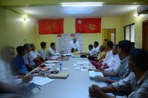 တာမွေမြို့နယ် MNP ရုံးဖွင့်ပွဲသို့ နိုင်ငွေသိမ်း တက်ရောက်မိန့်ခွန်းပြောစဉ်(MNA)