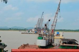 သံလွင်တံတား (ချောင်းဆုံ) ဆောက်လုပ်နေစဉ်(MNA)