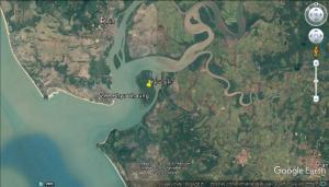စုန်းမကျွန်း တည်နေရာ(Google Earth)