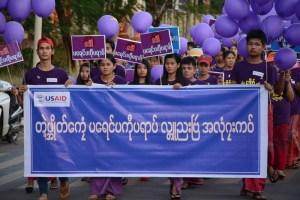 အပြည်ပြည်ဆိုင်ရာ အမျိုးသမီးများအပေါ် အကြမ်းဖက်မှုပပျောက်ရေးနေ့ လှုပ်ရှားမှု-မော်လမြိုင်မြို့(MNA)