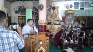 Myanmar Lighting Co.,Ltd မှ ဦးစိန်ဝမ်း ရှင်းလင်းပြောကြားစဉ်(MNA)